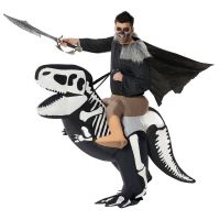Ride On T-Rex Skeleton Inflatable Costume