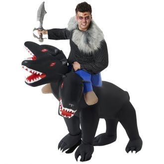 Evil 3-Headed Dog Ride On Inflatable Costume